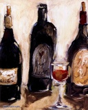 Glass Of Red Prints by Nicole Etienne