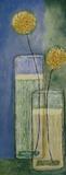 Blooms On Blue II Prints by Jennifer Carson