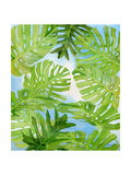 Tropical Greenery Premium Giclee Print by Mary Escobedo
