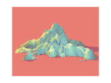 Geometric 3D Mountain Scene Prints by  raincity