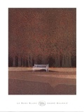 Le Banc Blanc Print by Andre Bourrie