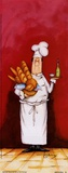 Chef With Bread And Oil Prints by Tracy Flickinger