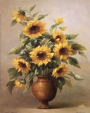 Sunflowers In Bronze I Prints by Welby