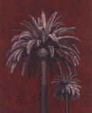 Palm Study On Red Print by Adam Guan