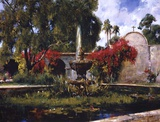 Fountain At San Juan Capistrano Posters by Cyrus Afsary
