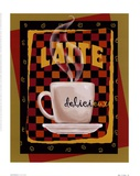 Latte Delicieux Poster by Betty Whiteaker