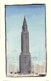 World Landmark New York Print by Paul Gibson