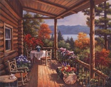 Log Cabin Covered Porch Posters by Sung Kim