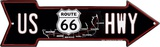 Route 66 Map Arrow Tin Sign