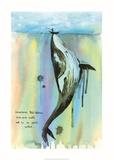 Whale-a-la Pósters por Lora Zombie