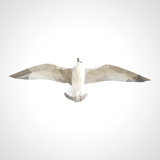 Polygonal Seagull in Flight on a White Background Affiches par  goodwin_x