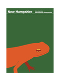 State Posters NH Print