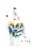 Skalle Affischer av Lora Zombie