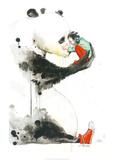 Panda Girl Poster von Lora Zombie