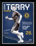Chelsea- John Terry Retro Wydruk kolekcjonerski