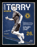 Chelsea- John Terry Retro Collector Print