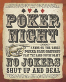 Poker Night Tin Sign