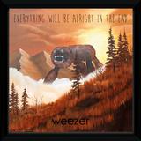 Weezer - Everything Will Be Alright Framed Album Art Lámina de coleccionista