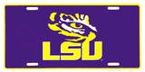 LSU Tigers Cartel de chapa