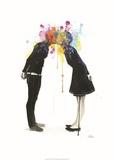 Big Bang Kiss Plakater af Lora Zombie