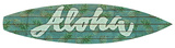Aloha Surfboard Plaque Wood Sign