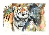 Sr. Tigre Posters por Lora Zombie