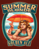 Summer Blonde Tin Sign
