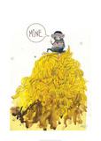 Greedy Monkey Plakater av Lora Zombie