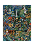 Rainbow Rainforest Poster by Bill Bell