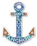 Charity Faith Anchor Wood Sign