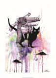 Super Cat Print by Lora Zombie