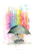 Umbrella Boy Plakater af Lora Zombie