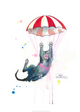 Parachute Cat Posters by Lora Zombie