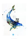 Wal Kunstdrucke von Lora Zombie