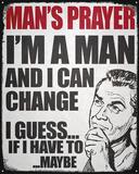 Man's Prayer Tin Sign