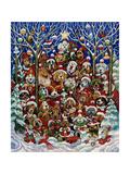 Santa Paws Art by Bill Bell