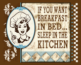 Breakfast In Bed Tin Sign