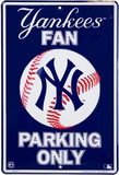Yankees Parking Plaque en métal
