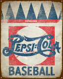 Pepsi Baseball Tin Sign