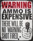 Warning No Warning Shot Tin Sign