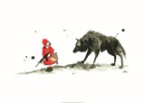 Rødhætte og ulven Posters af Lora Zombie