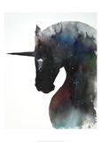 Dark Unicorn Full of Infinite Space Posters af Lora Zombie
