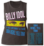 Womens: Billy Idol- Rebel Yell Tour '84 Tank Top (Front/Back) Womens Tank Tops