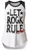 Womens: Aerosmith- Let Rock Rule Raglan Tank Womens Tank Tops