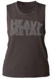 Womans: Heavy Metal- Distressed Logo Tank Tričko