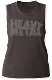 Womens: Heavy Metal- Distressed Logo Tank Top Womens Tank Tops