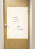Confetti Cream Dry Erase Messenger Board Wall Decal