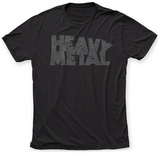 Heavy Metal- Distressed Collapsing Logo Camiseta