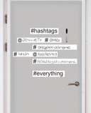 Hashtag Dry Erase Wall Art Kit Wall Decal
