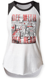 Womans: Alice In Wonderland- Off With her Head Raglan Tank T-Shirt